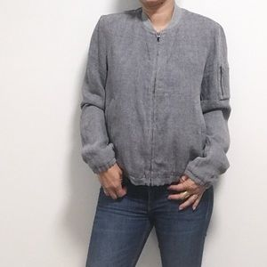James Perse. Size 3. Linen style bomber.